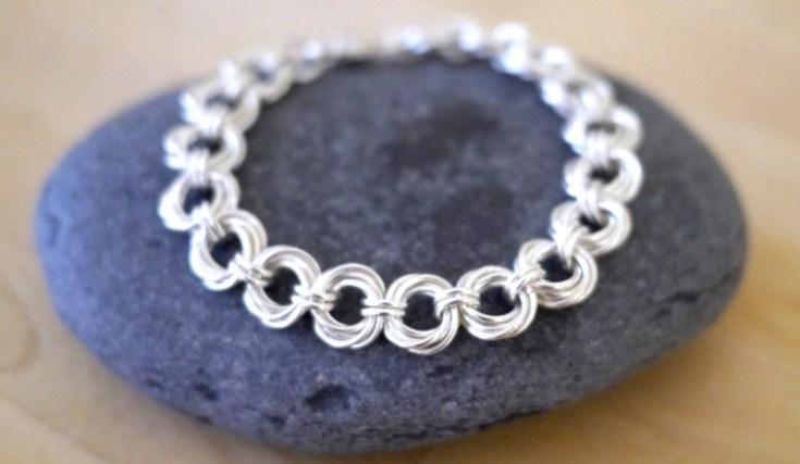Sterling silver spiral chain bracelet