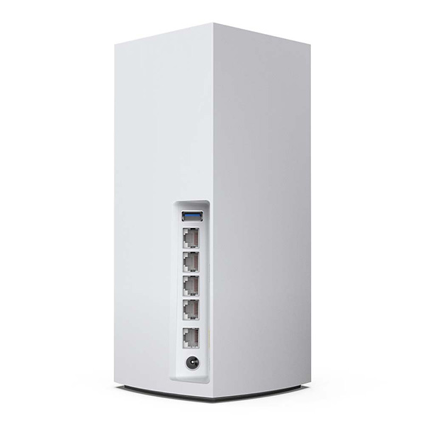 Back of the Linksys MX5300 Velop Whole Home Mesh WiFi 6 (AX) System