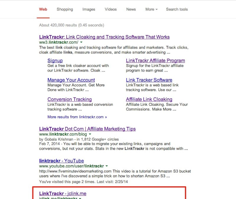 Can a Cloaked Affiliate Link Get Google Top Rankings