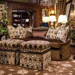 Leather Sectional Sofa Chicago Pull Out Bed Frame Marge Carson Sofas Living Room Deville ...