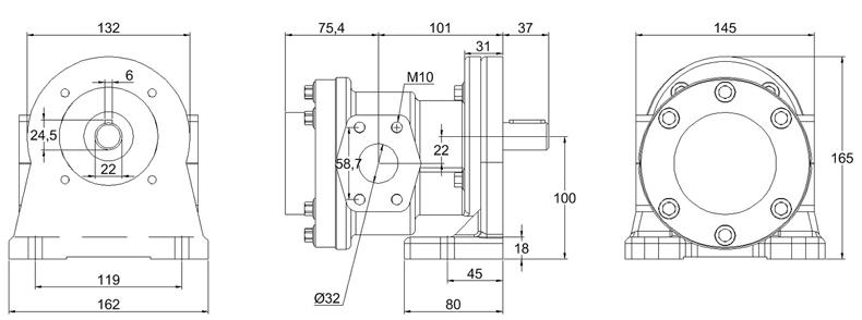 External-Gear-Pumps with mounting brackets Series D