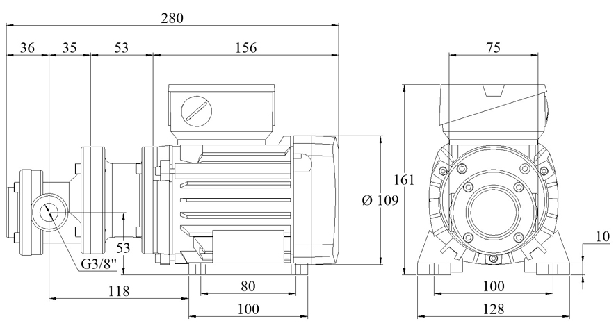 Spur-Gear-Pumps Series FLM with electric Motor up to 1.5