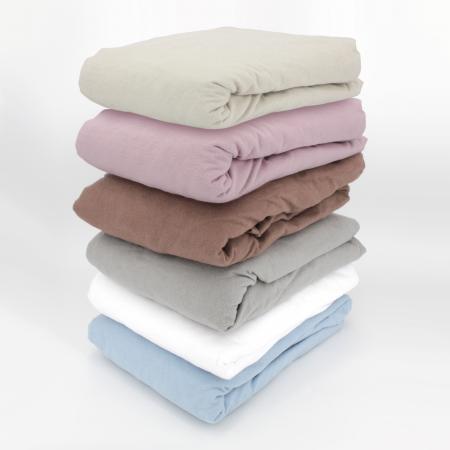 drap housse flanelle unie 90x200 cm 100 coton wales gris