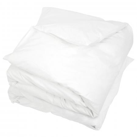 housse de couette uni 300x300 cm 100 coton alto blanc