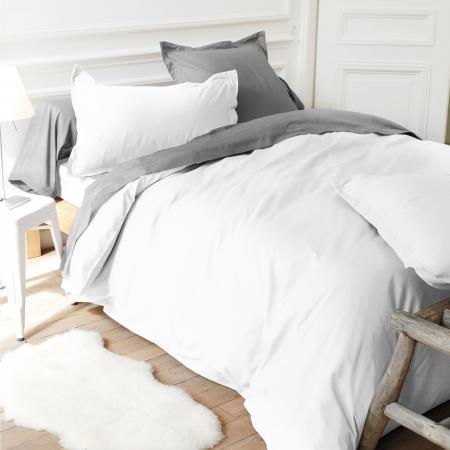 Housse De Couette 300x300cm Uni Pur Coton Alto Blanc Linnea Linge De Maison Et