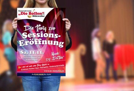 Plakat Sessionseröffnung Karnevalsverein
