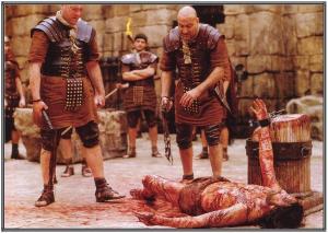 Jim Caviezel en su papel de Jesús