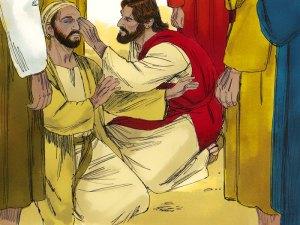 Jesús sana al ciego de nacimiento
