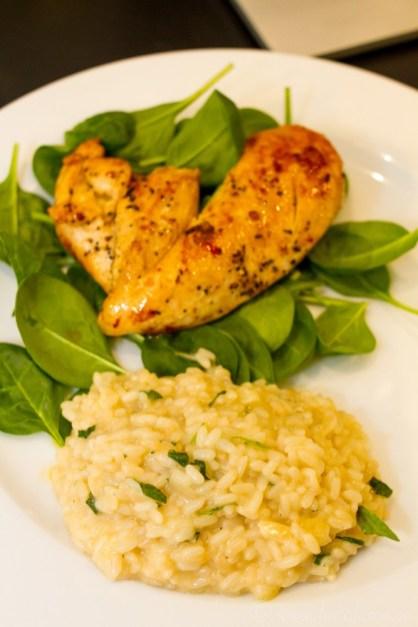Salviarisotto med kyckling