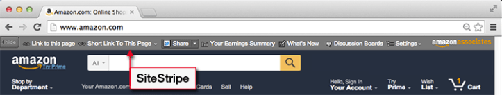 Amazon Associate Site Stripe