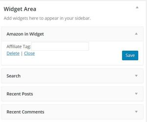 Amazon Widget - Link with Affiliate Tag