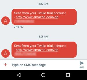 Twilio SMS Text Alerts