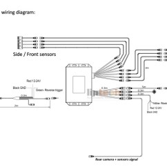 Trailer Light Wiring Diagram Pro Tach Lsb-03 8 Sensors Parking System For School Bus