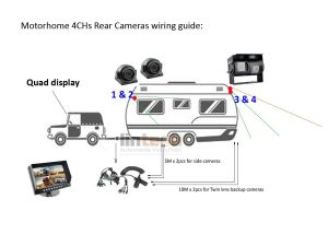 LRV-06 9 Inch Monitor Rear View Camera System With Trailer