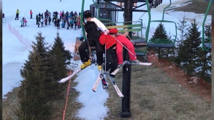 Girl Falls 25 Feet From Ski Lift During Rescue Attempt On