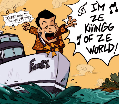 cartoon -Sarkozy en croisière