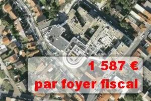 vue satellite de la ville de drancy