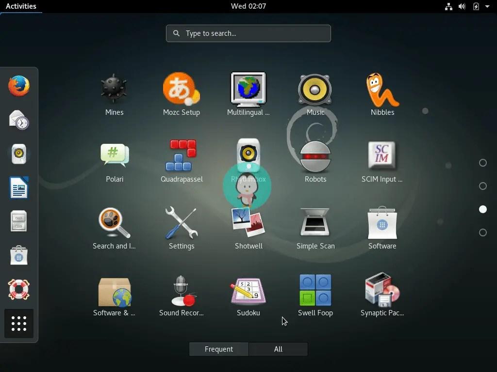 Debian search application