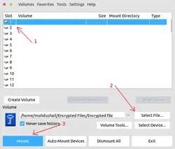 truecrypt mount volume file