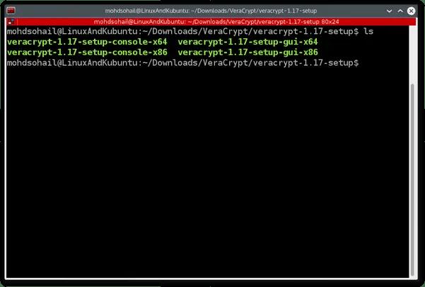 Open terminal to install veracrypt