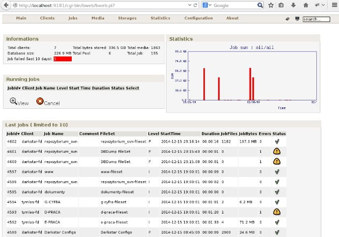 bacula linux backup tool
