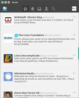 birdie twitter client for linux/ubuntu and fedora distributions