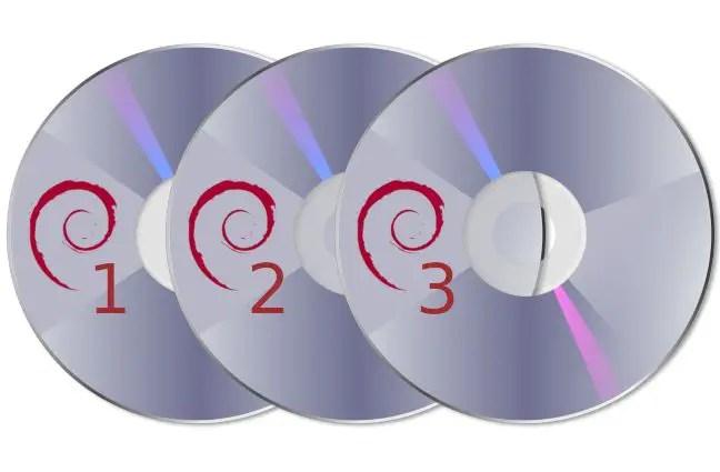 debian discs