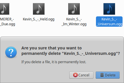 delete a file in linux