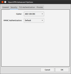 edit vpn network security settings