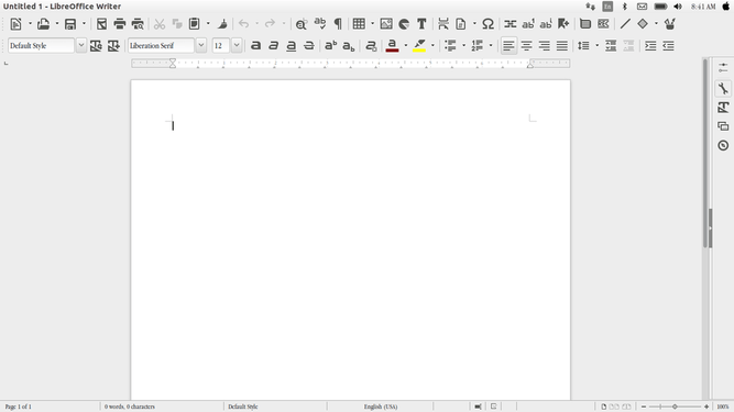 install monochrome icon in libreoffice