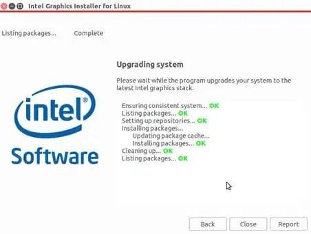 intel graphics installer successfully upgraded graphics in ubuntu