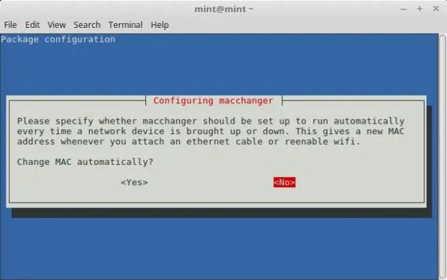 macchanger for mac spoofing