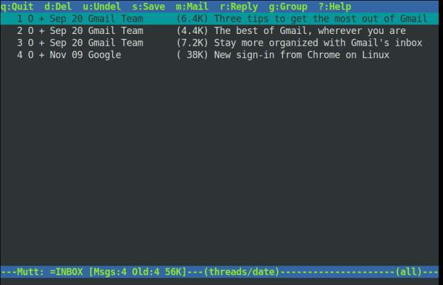 mutt email client