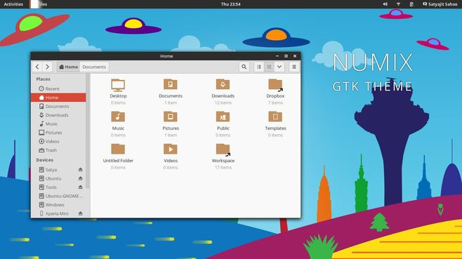 numix theme for ubuntu themes