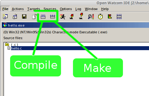 openwatcom ide GUI editor
