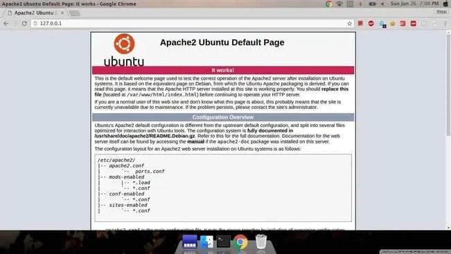 setup web server apache running