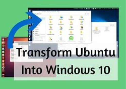 transform ubuntu into windows 10