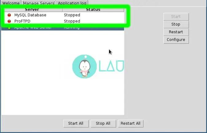 xampp control panel on linux