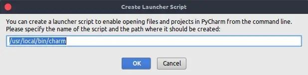 Creating a Launcher Script fot the terminal