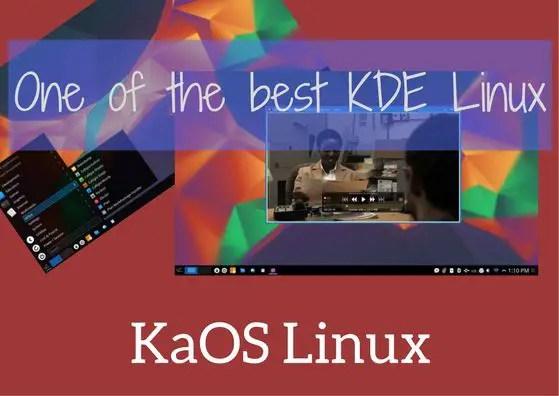 KaOS linux