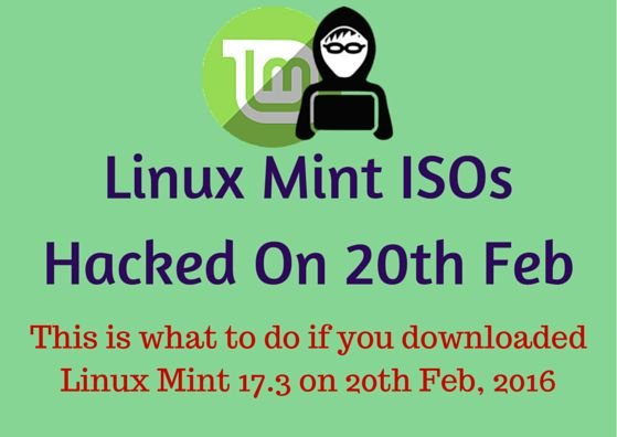 Linux Mint 17.3 iso hacked