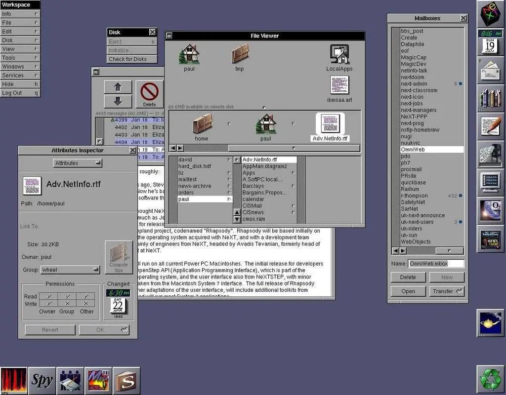 NeXTSTEP desktop operating system