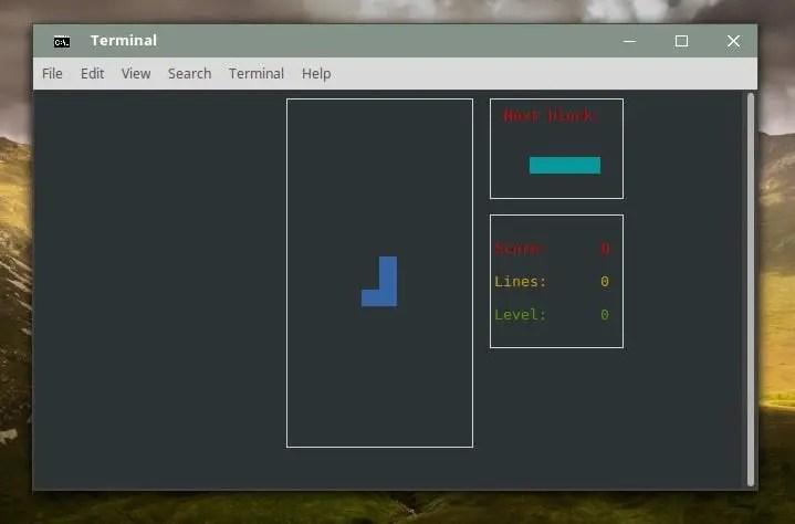 bastet tetris game for linux terminal