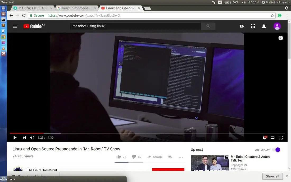 browsing internet in linux