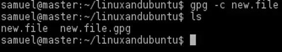 encrypt file in gnupg