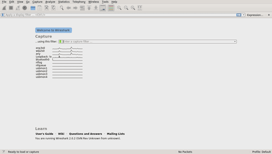 how to capture packets in in wireshark