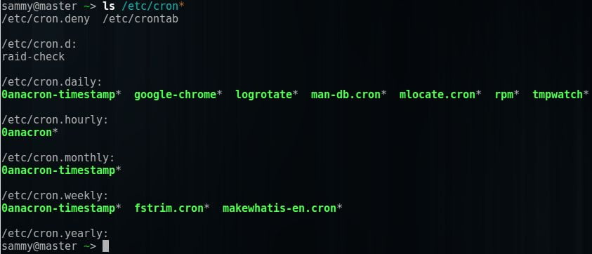 how to use cron