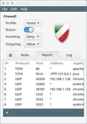 install gufw firewall