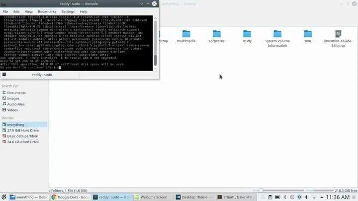 install update or upgrade linux mint kde