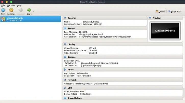 install windows 10 in virtualbox